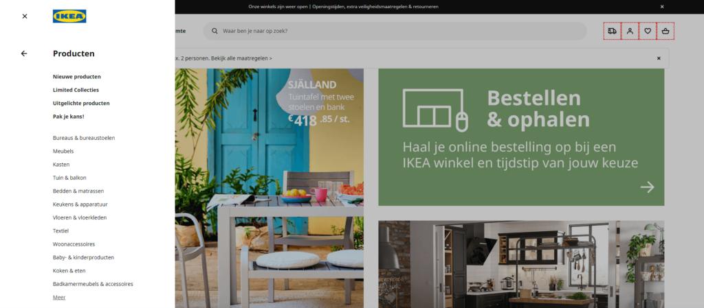 IKEA werkt met content silo's voor het verbeteren van de website structuur