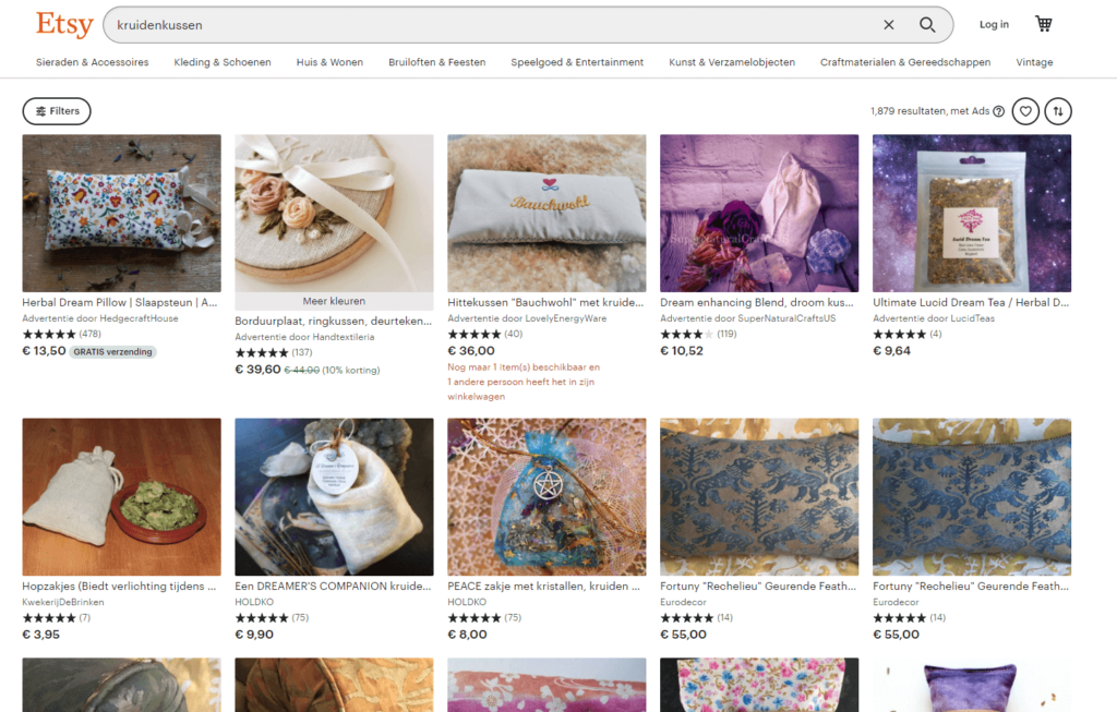marketplace marketing concurrentie op etsy